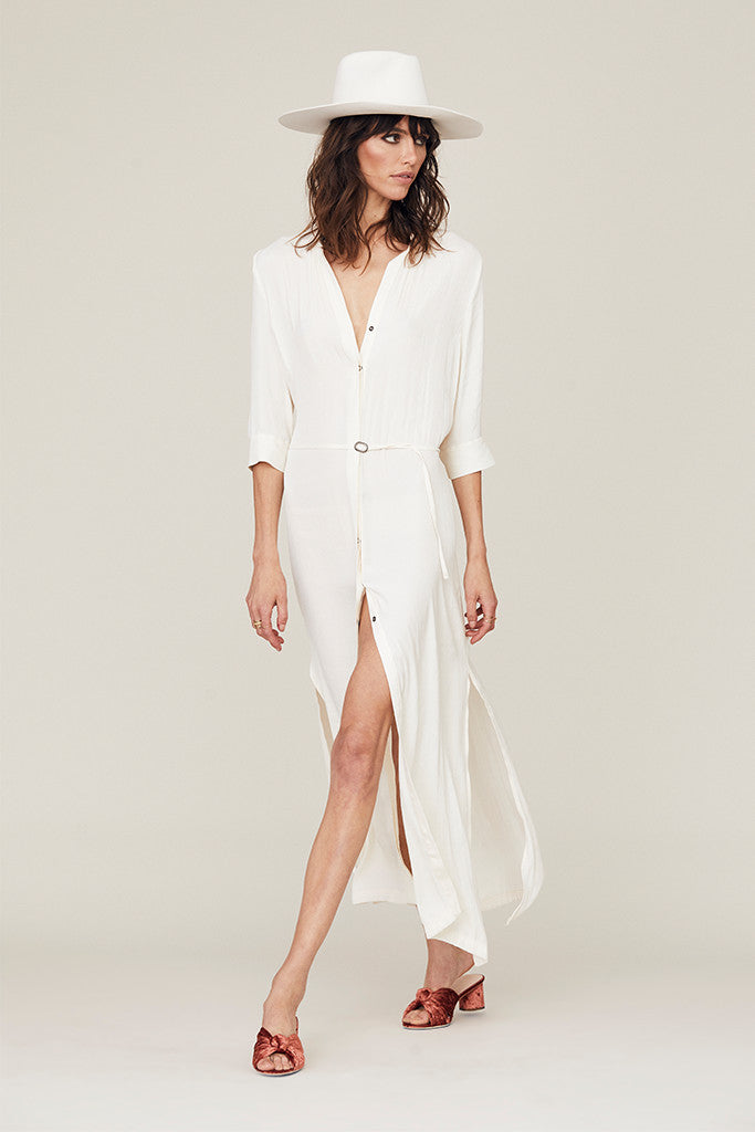 Alexa Maxi Shirt Dress