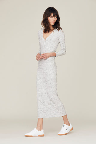 Cate Long Sleeve Henley Maxi Dress