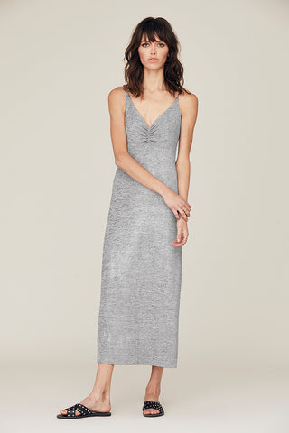Metallic Emily Ruched Front Slip Dress