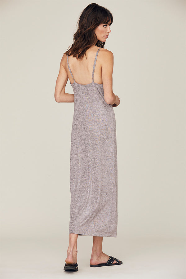 Emily Metallic Slip Dress