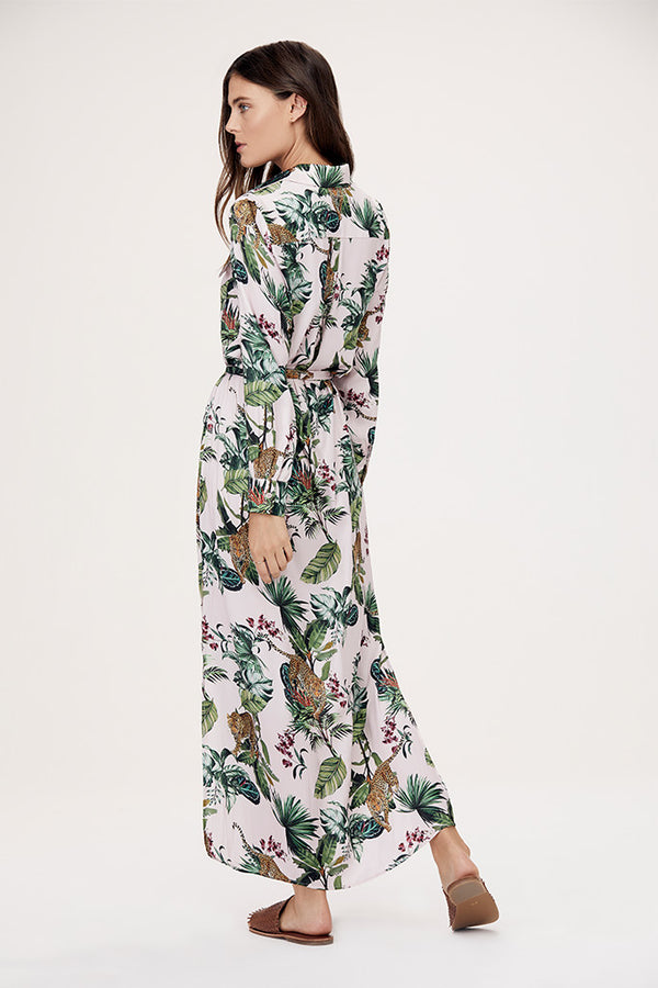 Lola Safari Maxi Shirt Dress