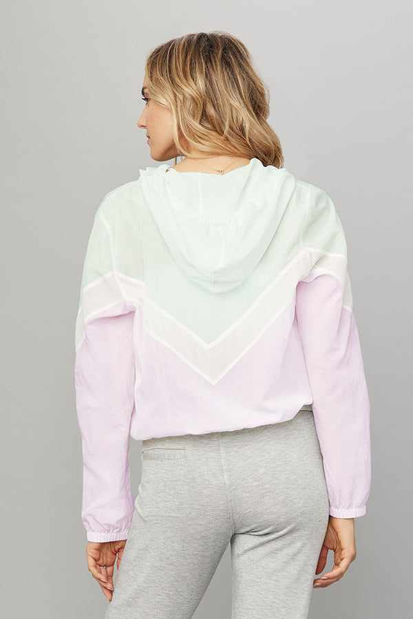 Chevron Zip Front Windbreaker