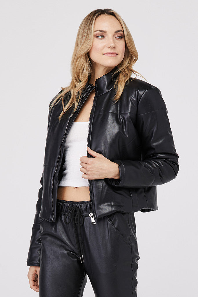 Bella Vegan Crop Puffer