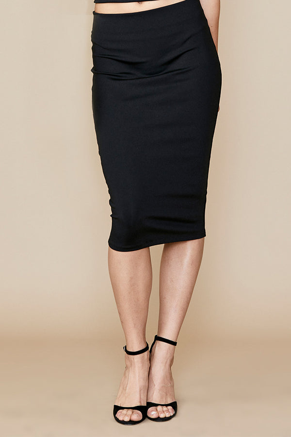 Stretch Tube Pencil Skirt