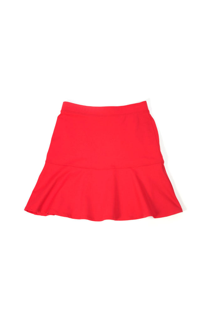 Stretch Fluted Skirt