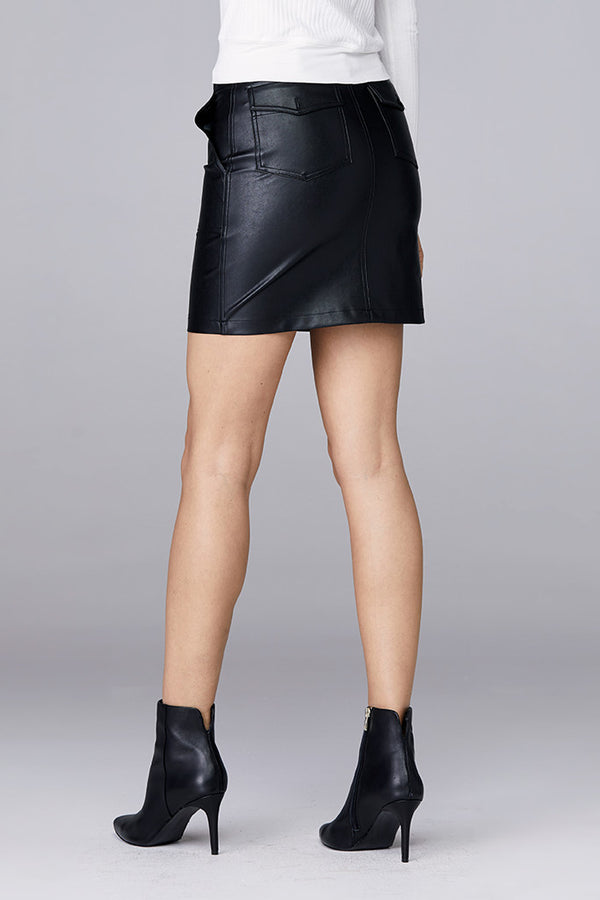 Front Snap Utility Skirt