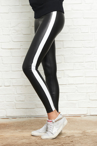 Tuxedo Striped Ankle Zip Legging