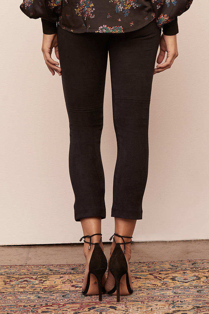 Zippered Gemma Legging in Micro Suede