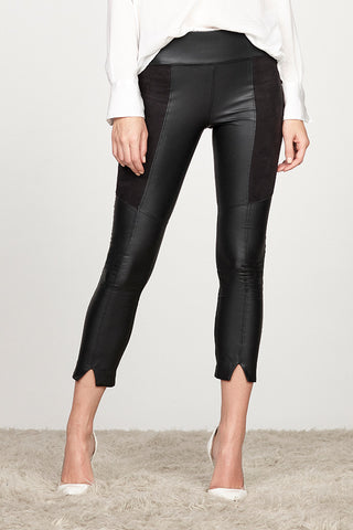 Vegan Leather Combo Gemma Split Legging
