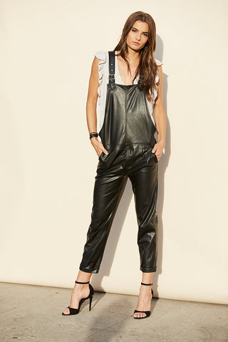 Smooth Vegan Leather Overall Smooth Vegan Leather Overall by David Lerner