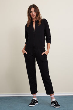 French Terry Long Sleeve Jumpsuit
