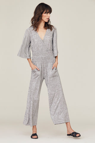 Metallic Gwen Wide Leg Jumpsuit