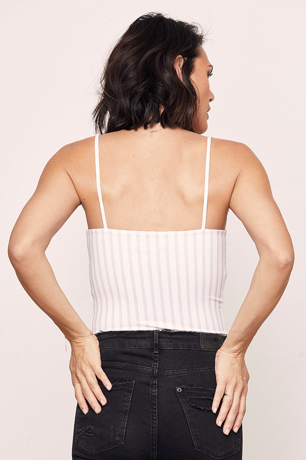Striped Straight Tank Bodysuit