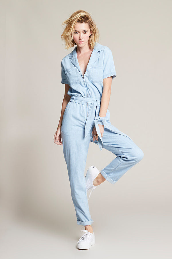 Carson Jumpsuit in Chambray