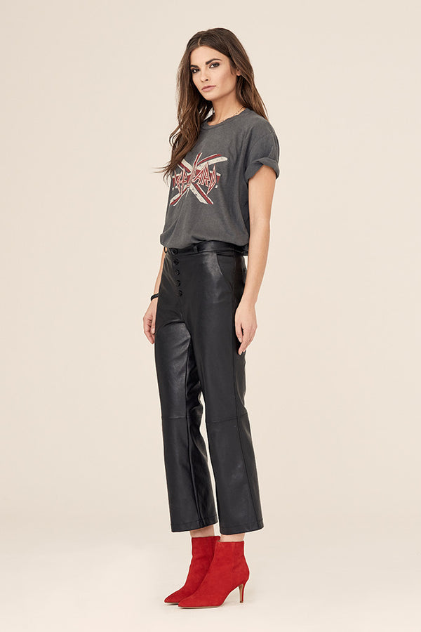 High Rise Crop Flare Pant