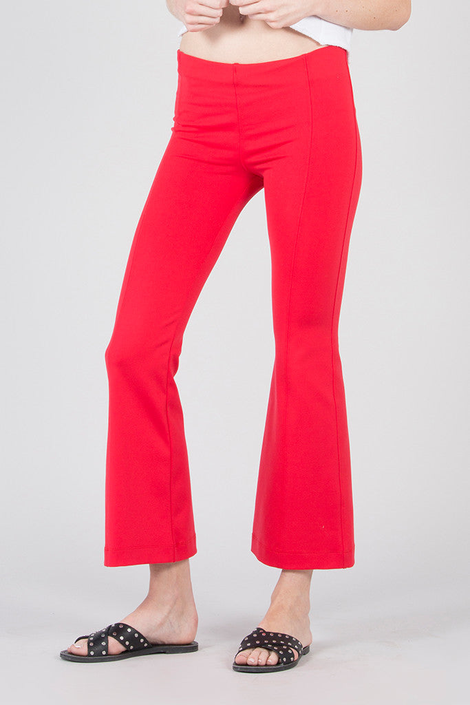 Seamed High Rise Flare Pant