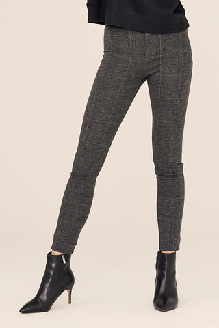 Stretch Plaid Trouser Cigarette Pant