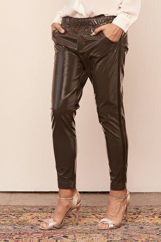 Vinyl Cuff Tapered Jogger