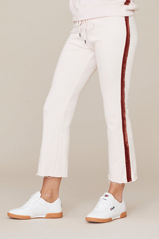 Crop Velvet Tape Lounge Pant