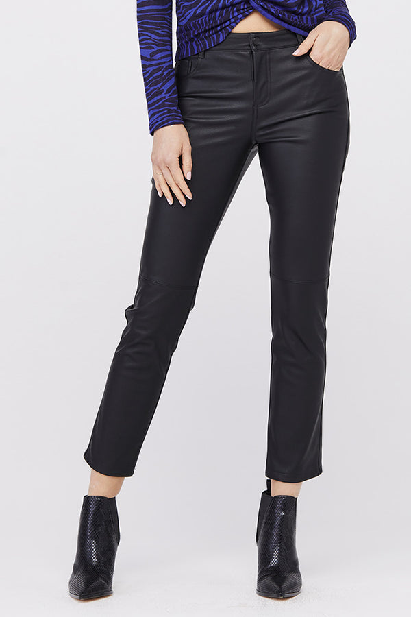 Jagger 5-Pocket Vegan Leather Pant