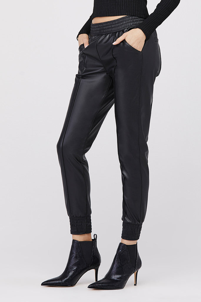 Leila High-Waisted Pintuck Trouser Jogger