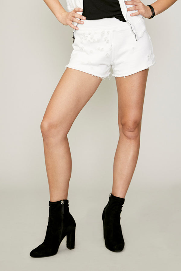 Distressed French Terry Short
