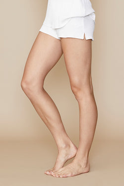 Heavy Rib Knit Willow Short