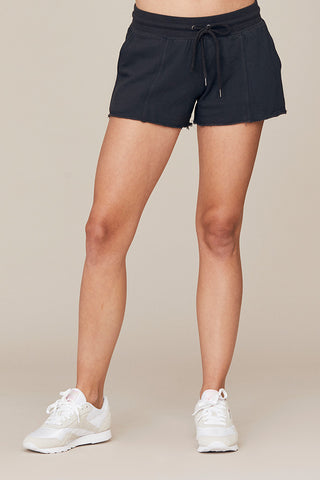 French Terry Raw Hem Lounge Short