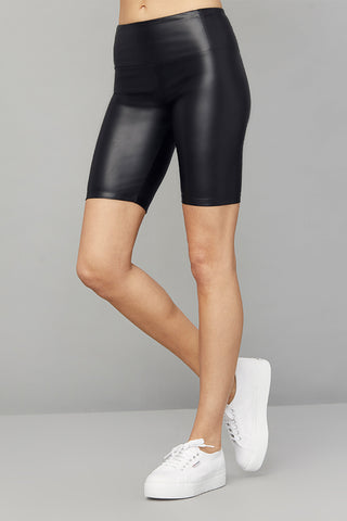 Vegan Leather Bike Short
