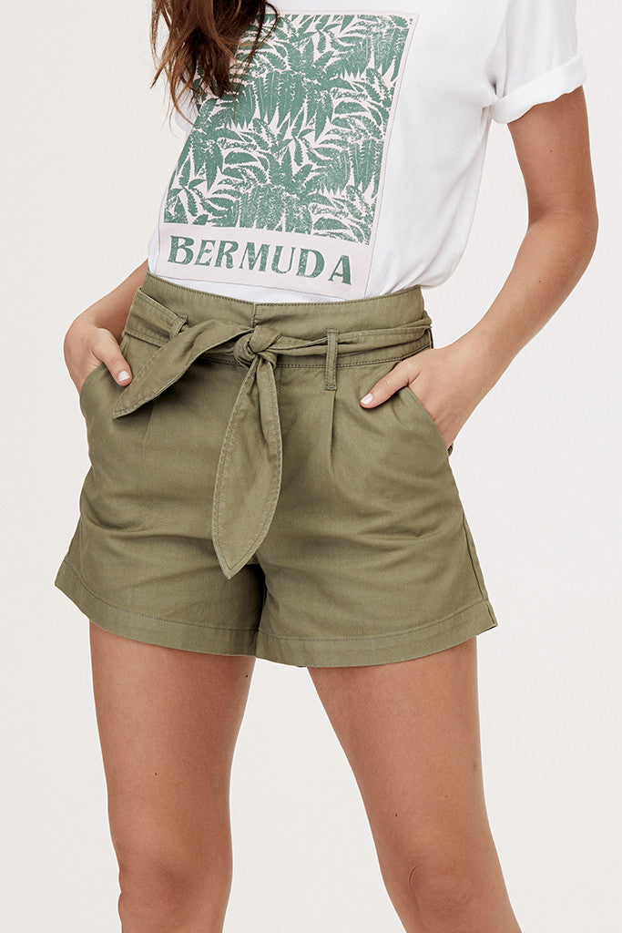 Lexi Pleated Twill Short