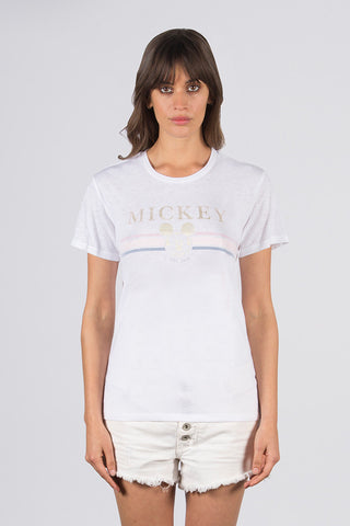 Gold Mickey Crew Neck Tee