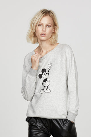Peace Out Mickey Raglan Pullover