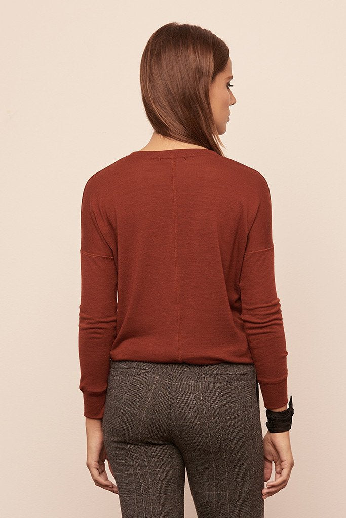Long Sleeve High-Low Pullover