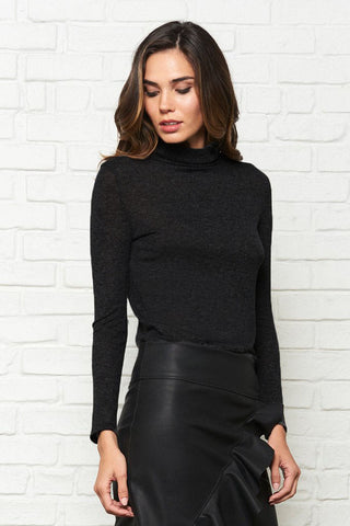Knit Long Sleeve Turtle Neck