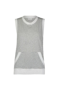 Stripe Jersey Sleeveless Pullover