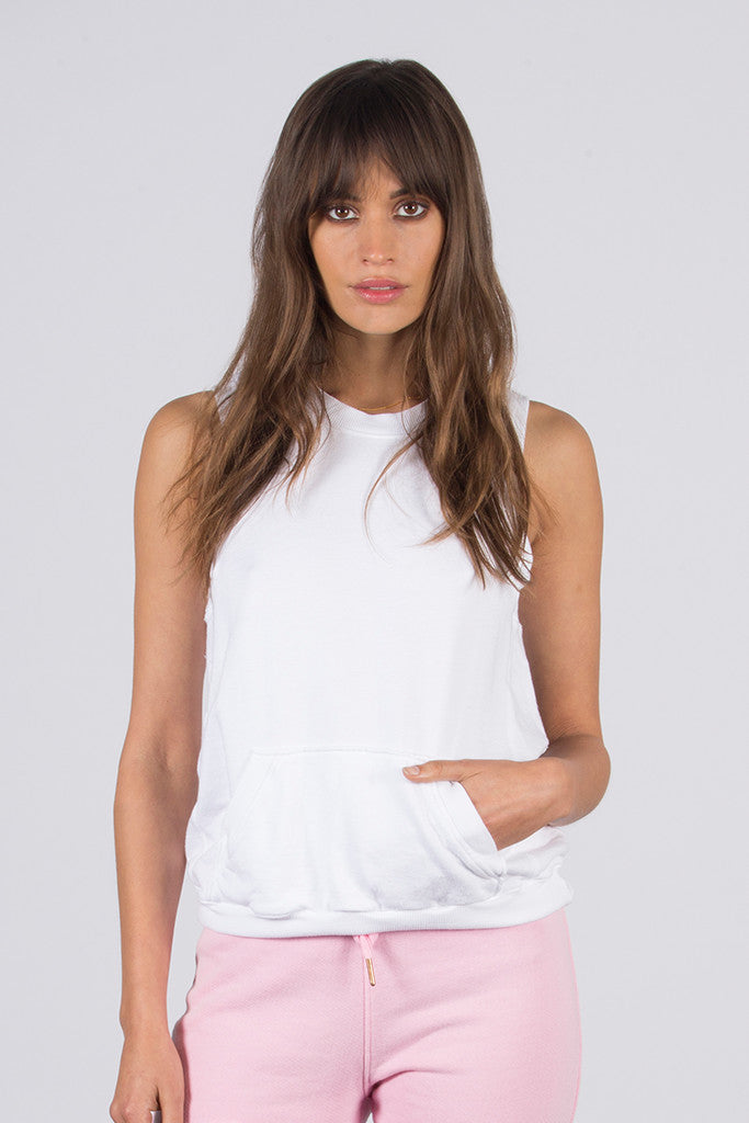 French Terry Sleeveless Pullover