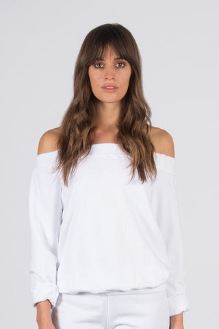 Off-Shoulder French Terry Pullover