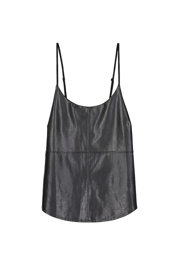 Vegan Leather Front Cami