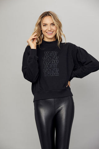 New York Mock Neck Pullover