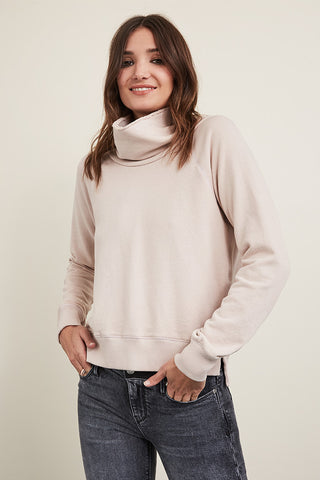 French Terry Cowl Neck Pullover