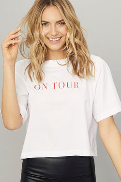 'On Tour' Boxy Crop Tee