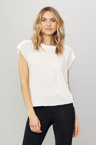 Grace Raw Hem Sleeveless Tee