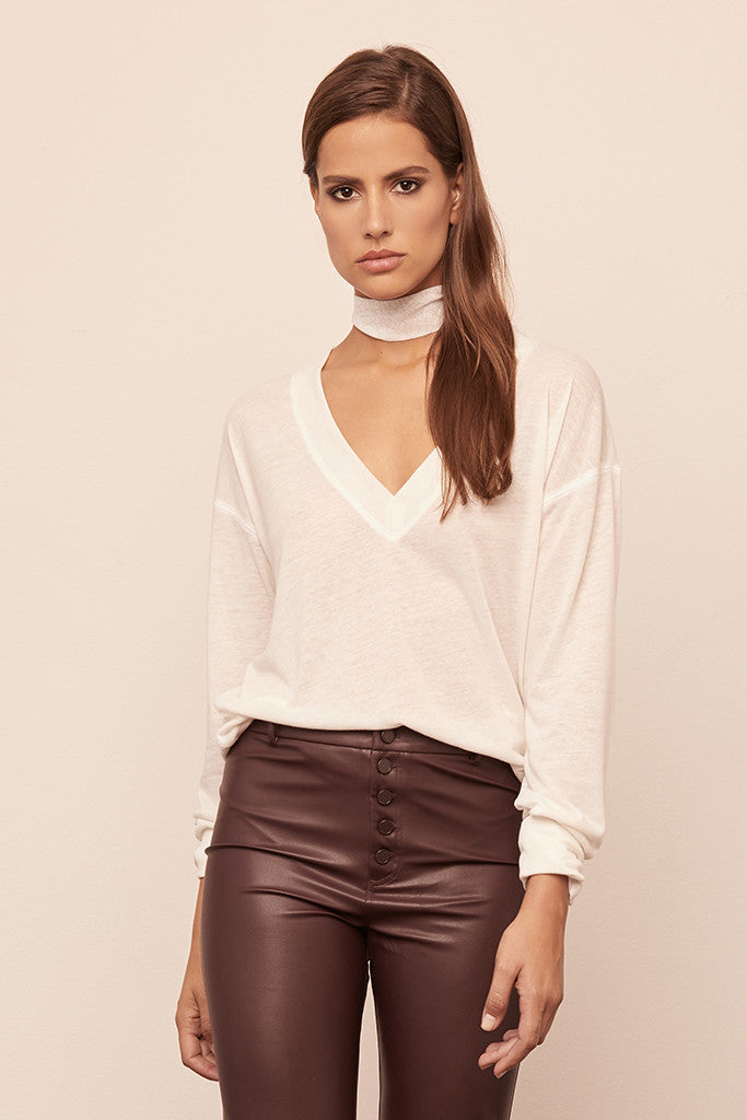 Jersey Long Sleeve V-Neck Pullover