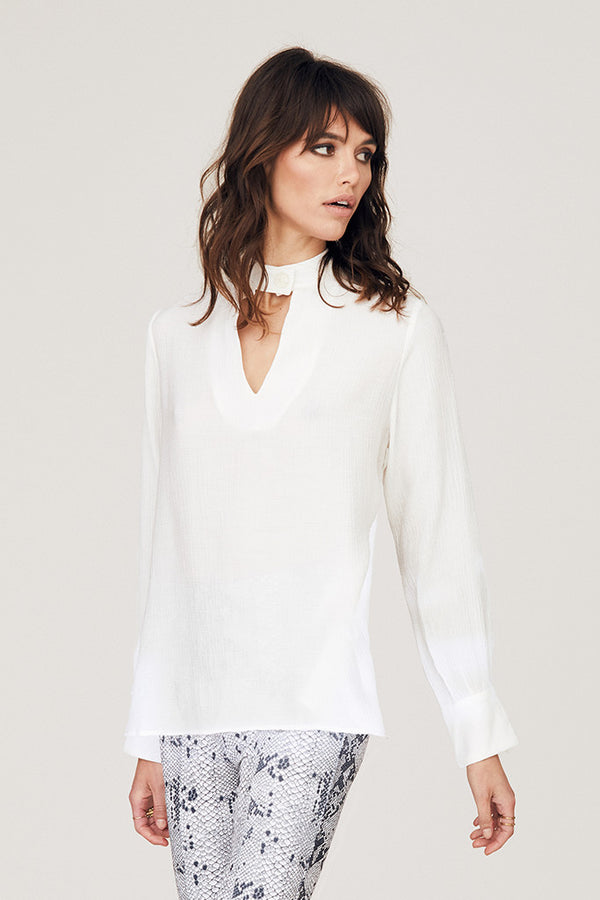 Kourtney Mandarin Collar Blouse
