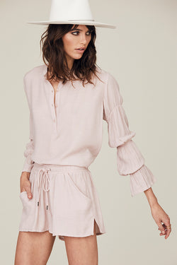 Rachel Shirred Sleeve Blouse