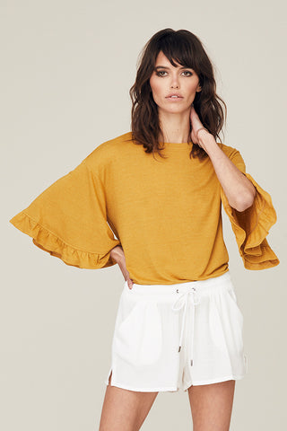 Bella Ruffle Bell Sleeve Top