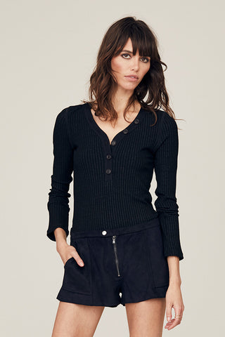 Cate Long Sleeve Henley Top