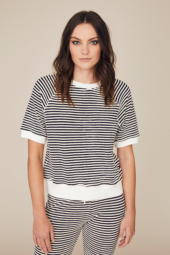 Stripe Terry Pullover