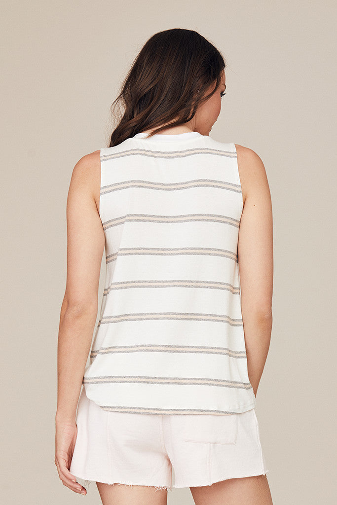 Stripe High-Low Tank