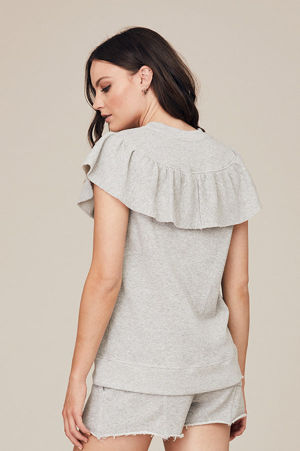 Sparkle Ruffle Panel Top
